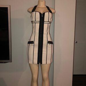 Woman's black & white sexy dress